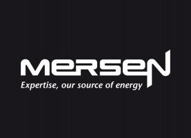Mersen logo with baseline, negative